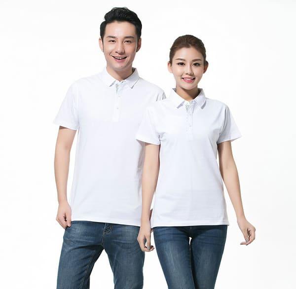 áo thun đồng phục công sở đẹp màu trắng