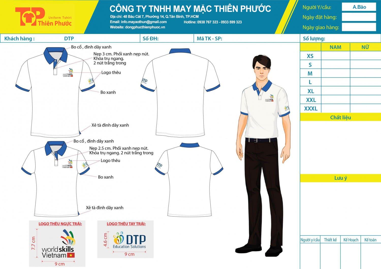 mẫu thiết kế áo thun đồng phục công ty worldkills vietnam