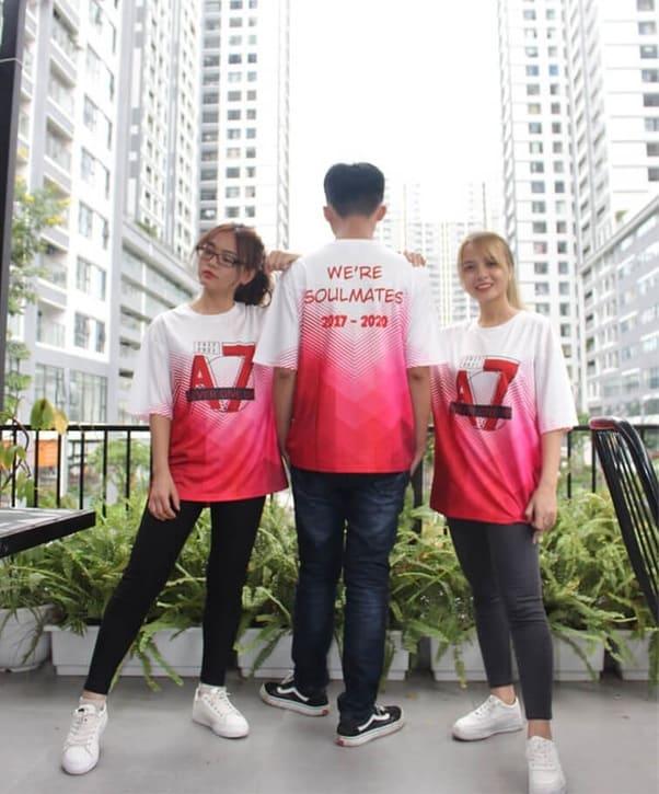 áo thun đồng phục nhóm 3 người