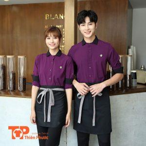 áo thun đồng phục quán cafe đẹp