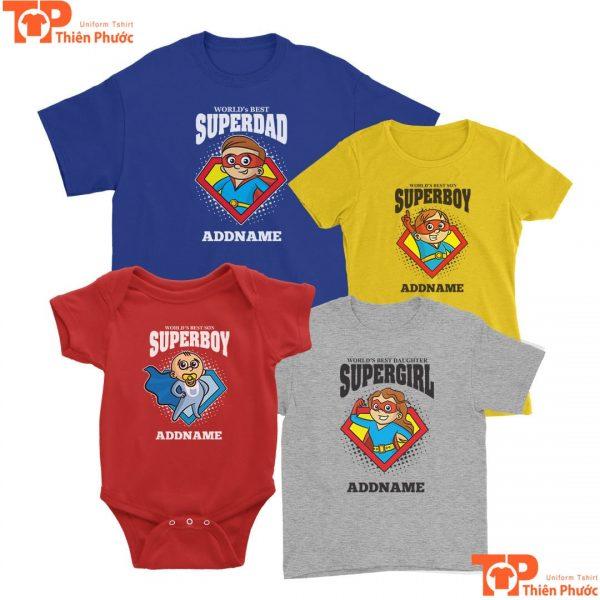 áo thun gia đình cho trẻ dưới 1 tuổi cổ tròn