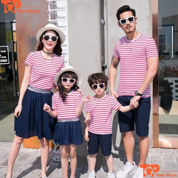 áo thun gia đình đi chơi hàn quốc tay ngắn