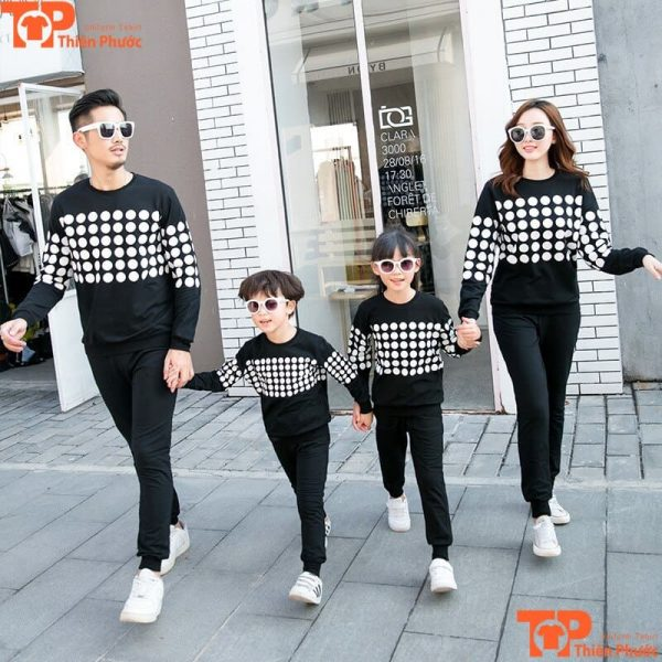 áo thun gia đình tay dài đi chơi