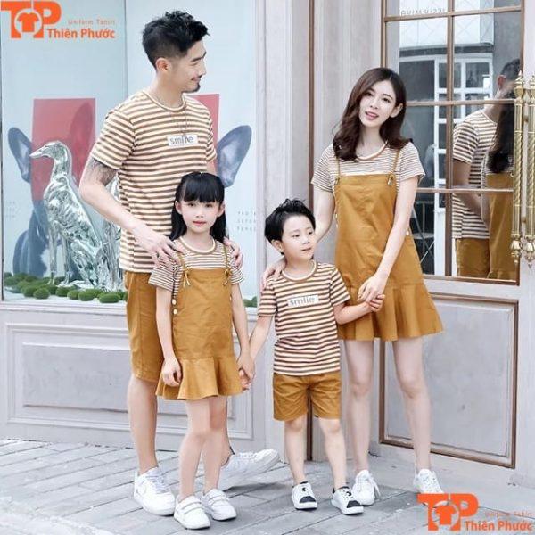 áo thun gia đình tay ngắn đi chơi