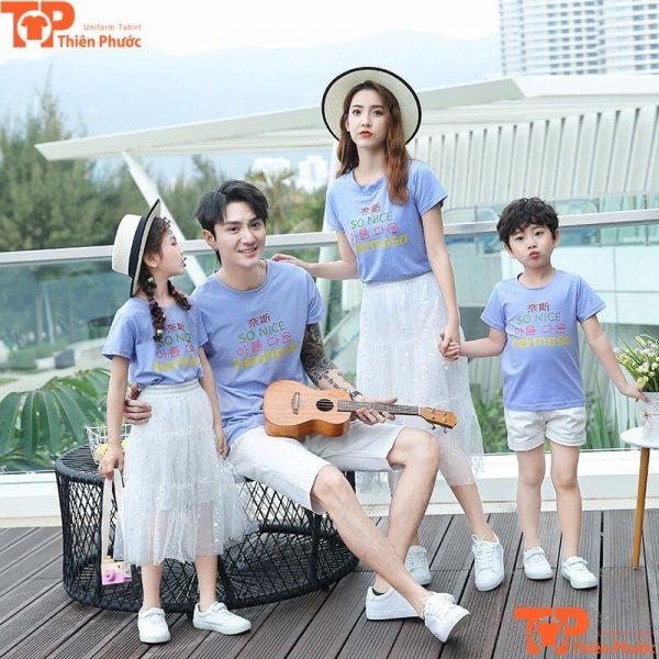áo thun gia đình thiết kế