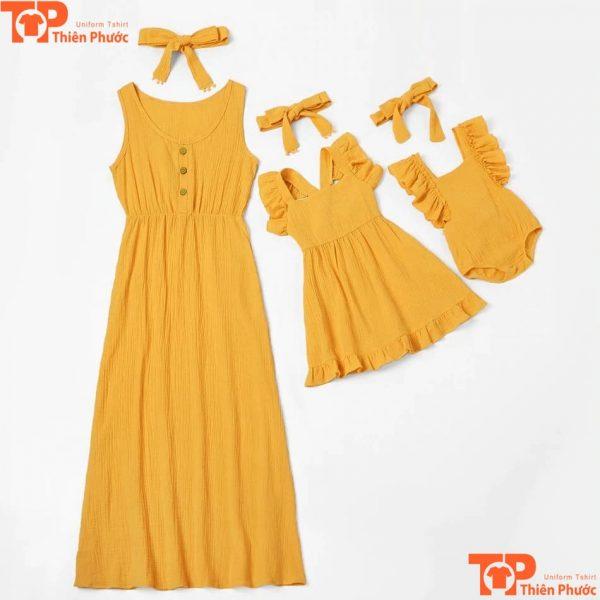 áo váy gia đình 3 người