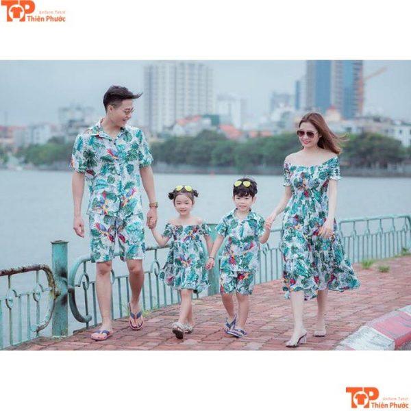 áo váy gia đình 4 người đẹp