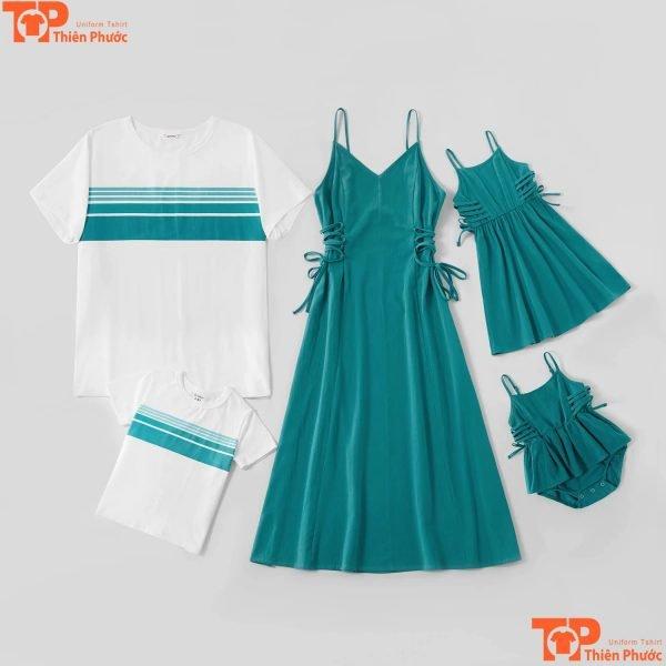 ao váy gia đình mùa hè