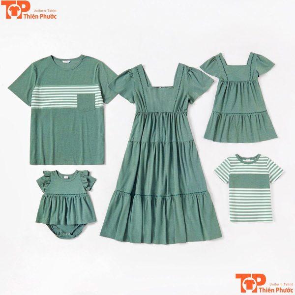 áo váy gia đình nhiều mẫu mã