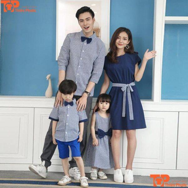 áo váy gia đình thiết kế trẻ trung