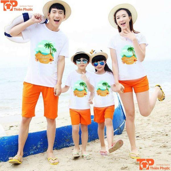 bộ áo gia đình đi biển mùa hè