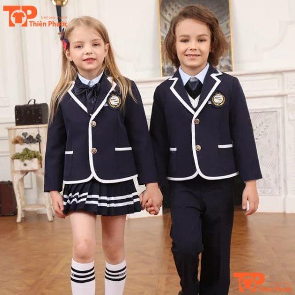 bộ đồng phục học sinh mầm non tay dài