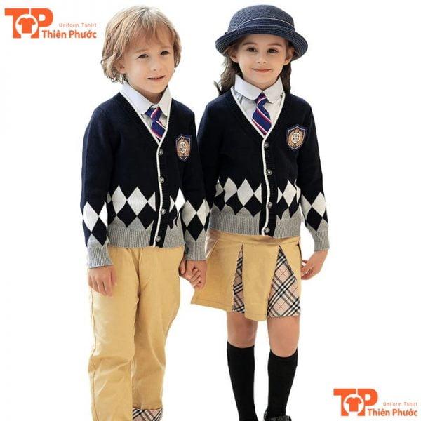 bộ đồng phục mầm non cho bé trai gái