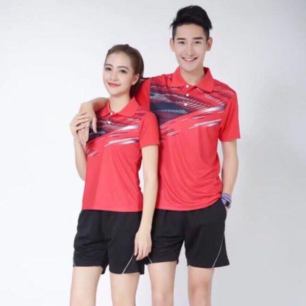 bộ đồng phục thể thao đá cầu cho nam nữ