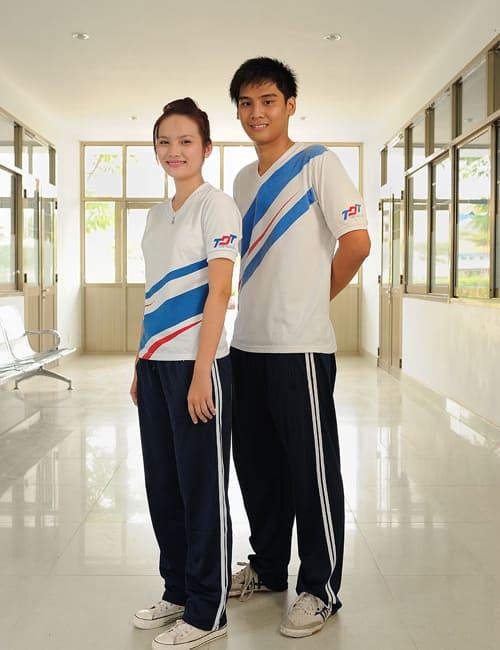 bộ đồng phục thể dục thể thao học sinh cho nam nữ
