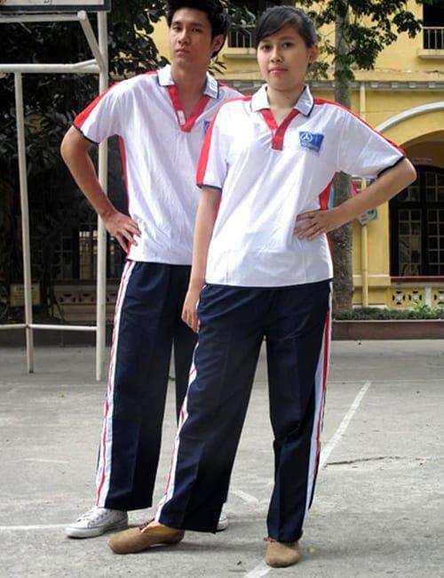bộ quần áo đồng phục thể dục thể thao học sinh nữ