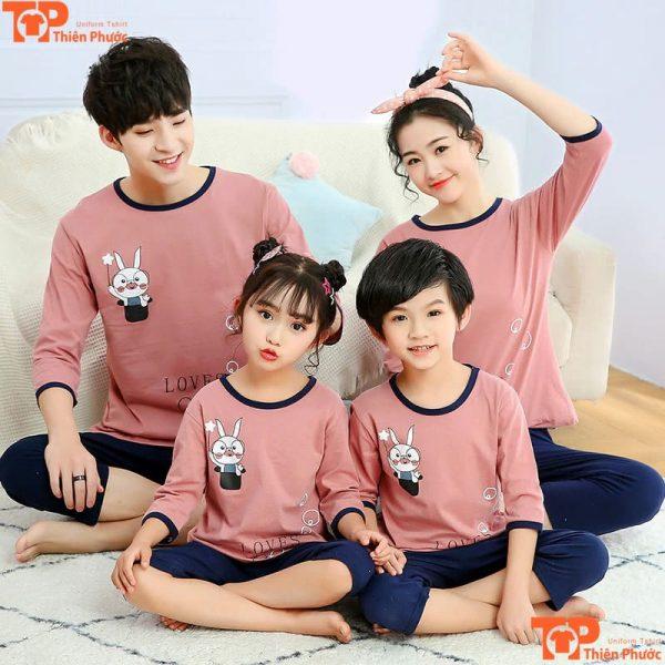 bộ quần áo gia đình mặc tại nhà đẹp
