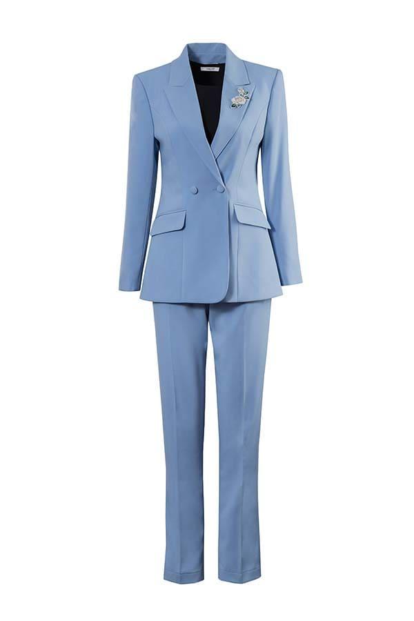 bộ vest đồng phục công sở nữ phối quần dài