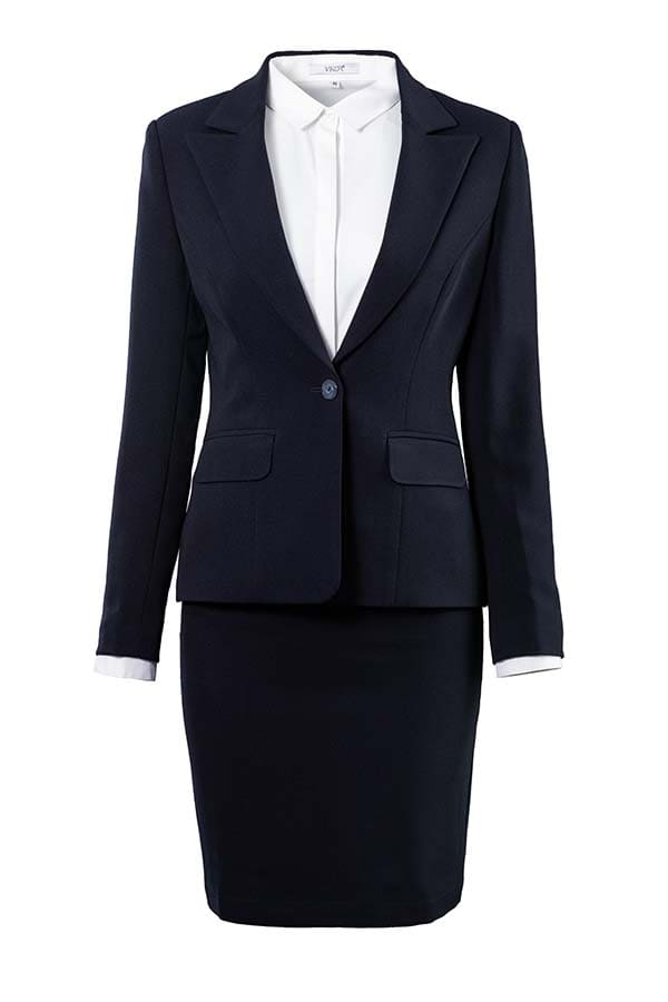 bộ vest đồng phục công sở nữ phối chân váy