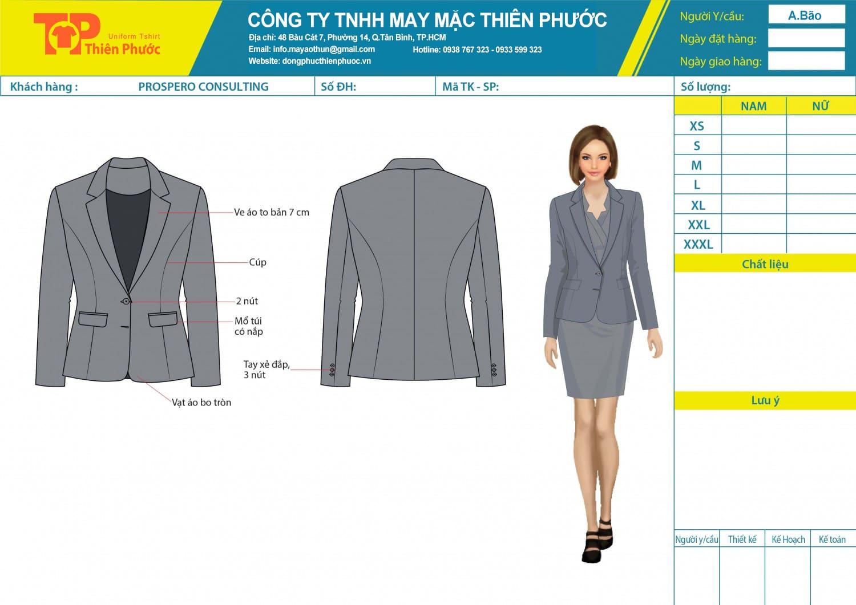 đặt may mẫu thiết kế áo vest nữ đồng phục công sở
