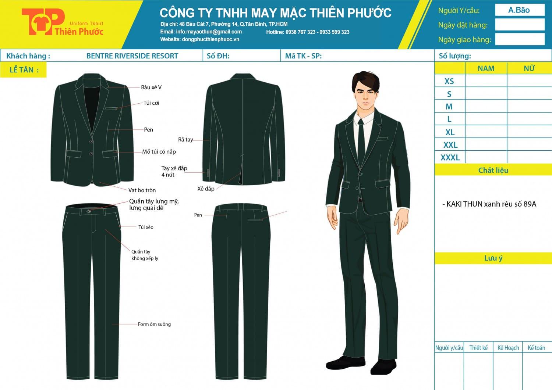 đặt may mẫu thiết kế vest đồng phục văn phòng