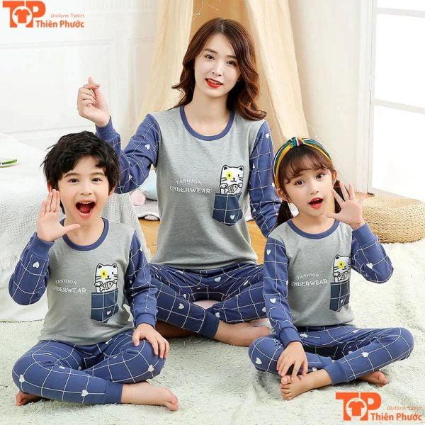 đồ bộ gia đình 3 người vui nhộn