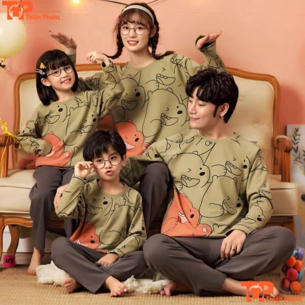 đồ bộ gia đình 4 người giáng sinh