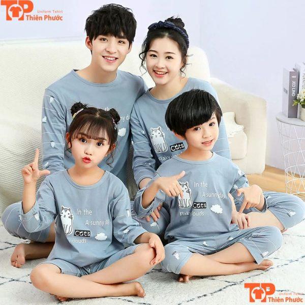 đồ bộ gia đình tay dài nhiều màu