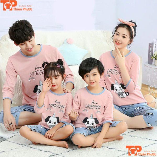 đồ bộ gia đình thiết kế dễ thương