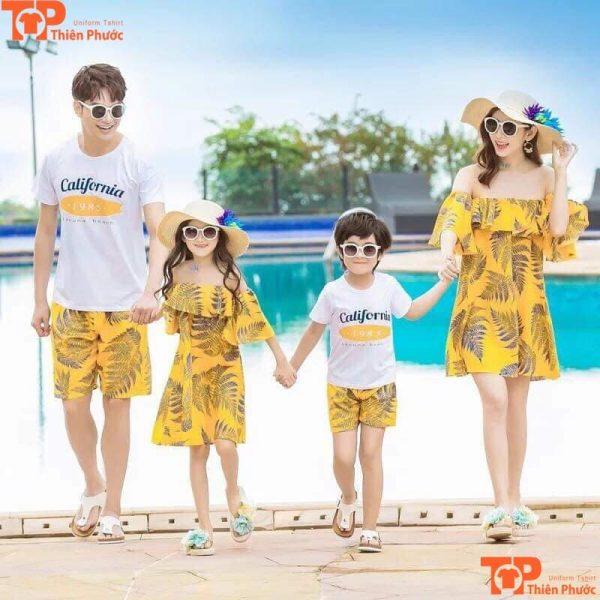 đồ cặp gia đình 4 người đi du lịch