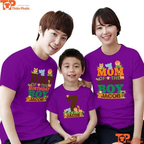 đồng phục áo cặp gia đình 3 người đẹp