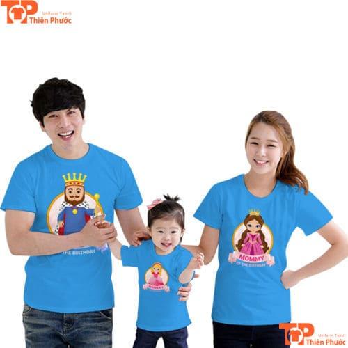 đồng phục áo cặp gia đình 3 người