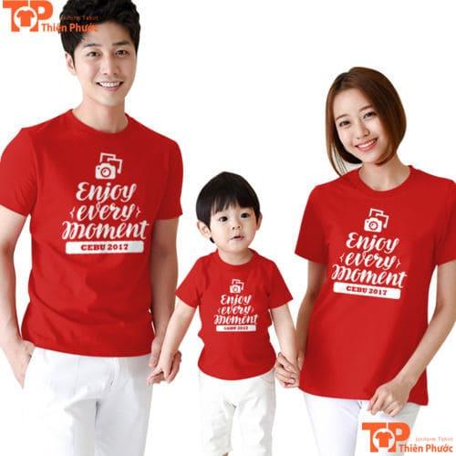 đồng phục áo đôi gia đình 3 người đẹp
