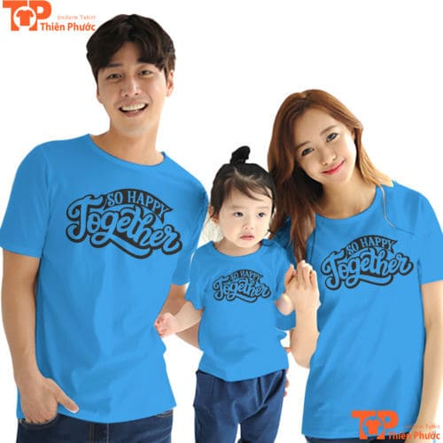 đồng phục áo gia đình 3 người tay ngắn