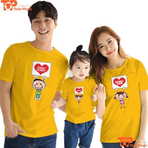 đồng phục áo gia đình tay ngắn