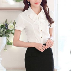 đồng phục áo sơ mi công sở nữ tay ngắn