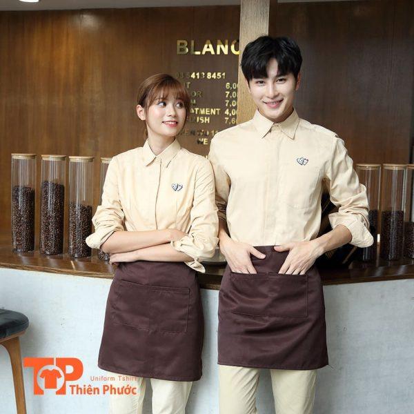 đồng phục áo sơ mi quán cafe