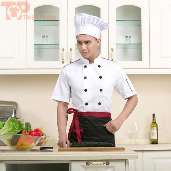 Đồng phục bếp cho nam tay ngắn