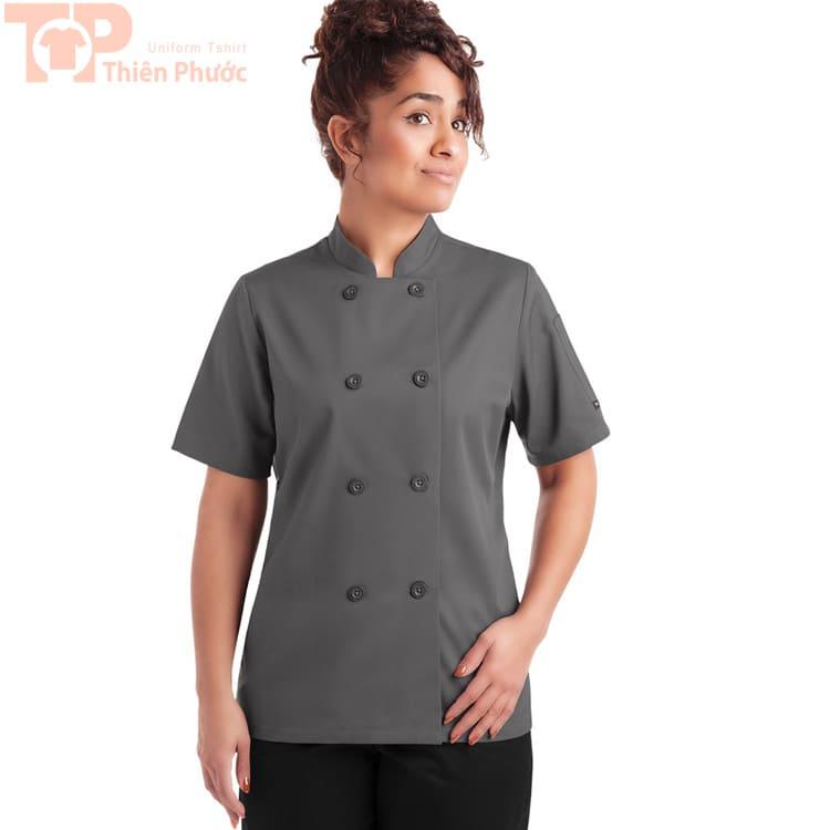 Đồng phục bếp cho tạp vụ màu xám