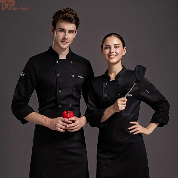 Đồng phục bếp màu đen