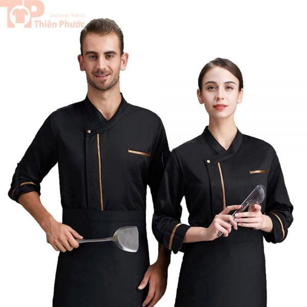 Đồng phục bếp mẫu màu đen