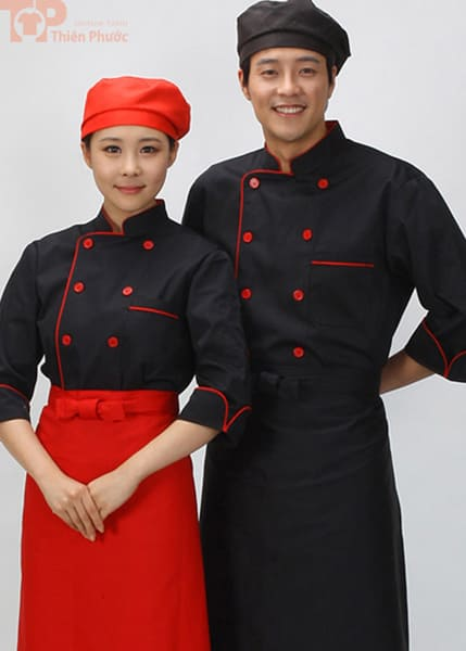 Đồng phục bếp may sẵn đẹp