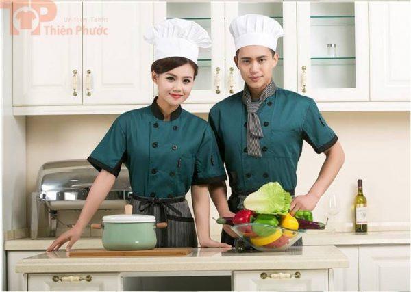 đồng phục bếp nam nữ đơn giản