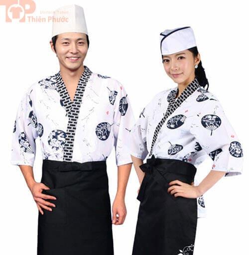 Đồng phục bếp nam nữ kiểu nhật bản