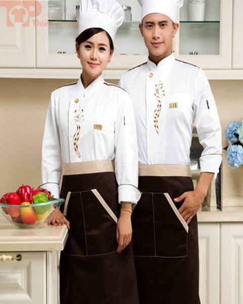 đồng phục bếp nhà hàng sang trọng