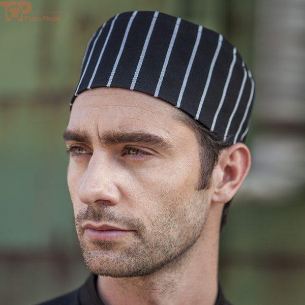đồng phục bếp phối nón bếp sọc caro