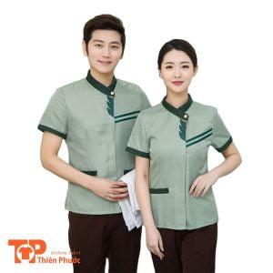 đồng phục buồng phòng khách sạn nam nữ