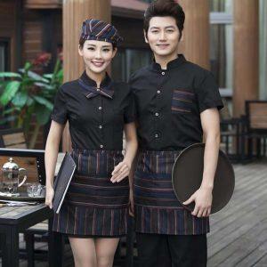 đồng phục cafe đẹp màu đen bóng