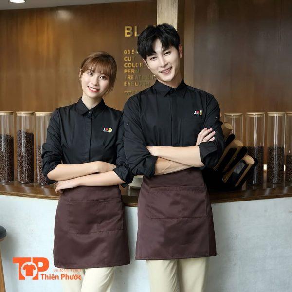 đồng phục coffee sho quán cafe