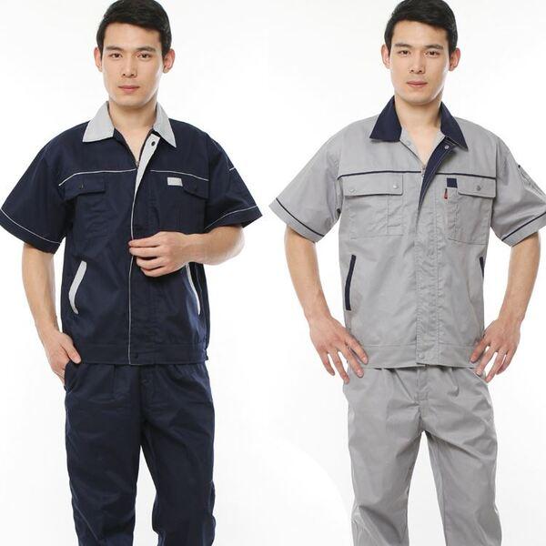 đồng phục công nhân cơ khí 2 màu